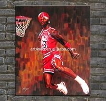 Famous Michael Jordan portrait oil painting on canvas