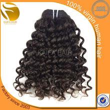 Kinky short hair brazilian curly weave