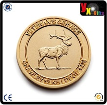 imported christmas ornaments/Promotional custom Singapore souvenir metal coin