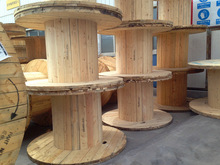 wire reeling rollers drums pine wood cable spools