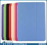 3-Fold Ultra Thin Clear Flip Cover Case for iPad Air 2, High-Quality PU Leather,With Stand Function