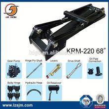 Hoist mechanism system hydraulic ram unit