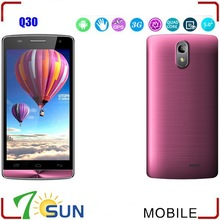 5.0 Inch Q30 MTK6582 Quad Core Android 4.2 3G WCDMA GPS WIFI Smartphone smart mobile phone