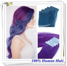Two Color human ombre hair weave purple Brazilian weaving hair