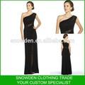 Une épaule longueur de plancher de perles nouveau Style robe de soirée arabe