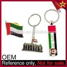 Metal keychain and pin badge etc custom UAE national day gifts