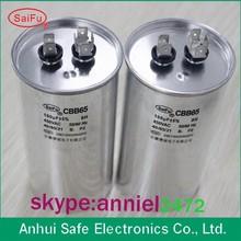 CBB65 ac motor running capacitor oil filling polypropylene film capacitor capacitance from 10uf to 120uf voltage 370VAC 450VAC