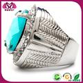 316l de aceroinoxidable de plata diamante gay de oro anillo de bodas