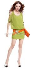 Womens sexy off shoulder dress neck beaded dress shirring skirt dress