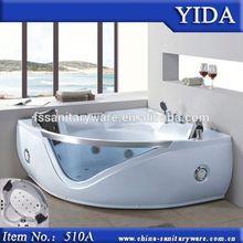 Corner installation type diamond shape 3 persons new whirlpool massage bathtub sizes, low bathtub prices