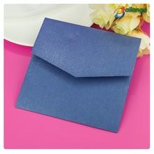 2014 western style pocket deep blue mysterious wedding invitation card