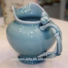 de aves de porcelana florero de cerámica para la decoración del hogar