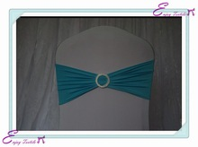 YHB#34 spandex lycra band buckle polyester banquet wedding wholesale cheap chair cover buckle band sash