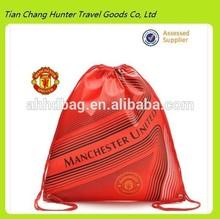 2014 hot sale high quality football team promotional drawstring bag