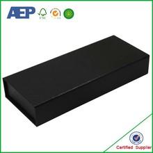 custom wholesale matte black gift box in shanghai