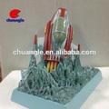 Modelo de cohete, cohetes modelo de resina, embarcaciones de figuras en miniatura
