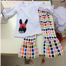 2014 So Cute Girls Long Sleeve Top And Big Ruffle Pants Outfit Baby Winter Outfit
