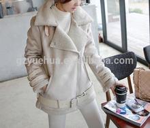 New Hot 2014 Women Fashion Winter Warm Lamb Wool Zipper Parka Coat Jacket