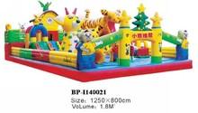 (BP-I140021) lovely giant PVC bounce castle with slide