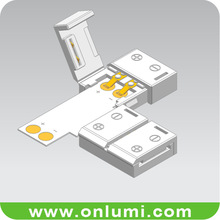 T shape non waterproof 8mm corner connector for flexible led strip