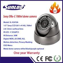 CCTV camera 700tvl Effio-E sony CCD solution 2.8-12mm varifocal IR dome camera