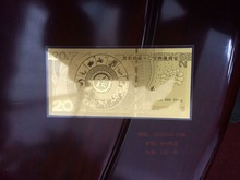 OEM---design and processing, 999 pure gold/silver souvenir note, thin silver/gold note,