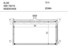 Condenser For SCANIA 4 Truck 1354110 , Air Conditioning Condenser Manufacturer
