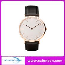Fashion Leather/nylon strap Daniel Wellington Style watch with high quality
