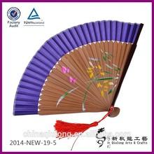 chinese dance fans folk art flower pictures fold mini hand fan