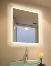 Elegant frosted design LED demister mirror France