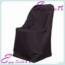 YHC#14 black folding polyester banquet damask jacquard plain dyed cheap wholesale wedding chair cover