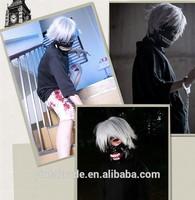 Japan Dark Fantasy Tokyo Ghoul Grey Short Length Cosplay Wig