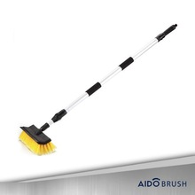 Long handle soft touch car wash brush with squeegee