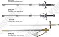 brinquedo cavaleiro espadas