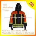 de alta visibilidad a prueba de fuego de seguridad reflejan la chaqueta