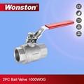 Fundido a presión de acero válvula de bola flotante