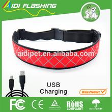 Running belt with led light glovion elastic nylon belt light up belts