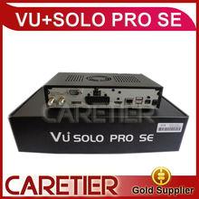 2014 newest stocks Linux Smart TV Player wholesale VU+SOLO PRO SE Digital Satellite Receiver factory price Ethernet Interface