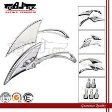 BJ-RM-036 Custom aluminum blade style mini chrome motorcycle mirror for chopper