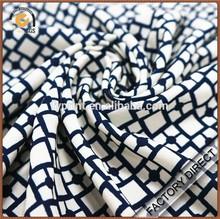 Custom digital print drapery silk drill fabric for garments in 100% silk fabric