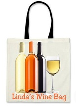Personalised Wine Bottles Shopping / Tote / Overnight Bag - Lovely Gift for Xmas