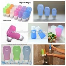 BPA Free Silicone Travel Set Travel Shampoo Container Empty Hand Sanitizer Bottle