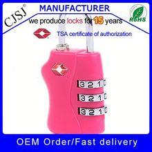 Original designs !! High Security pink tsa padlock mini combination locks