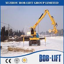 Hidráulico braço madeira guindaste como floresta equipamentos para venda FLSQ085F
