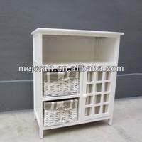 double basket 1 door storage cabinet modern classic furniture