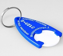 promotional gift plastic car keyring with coin holder for EURO