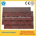 tejas para techos de rojo las tejas de asfalto para techos del azulejo