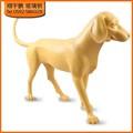 la figura del arte de la resina de la escultura dachshund perro