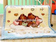 7years factory manufacturer crochet knit baby blanket/raschel baby blanket