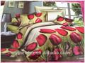 çiçek deseni 3d yatak örtüsü seti toptan